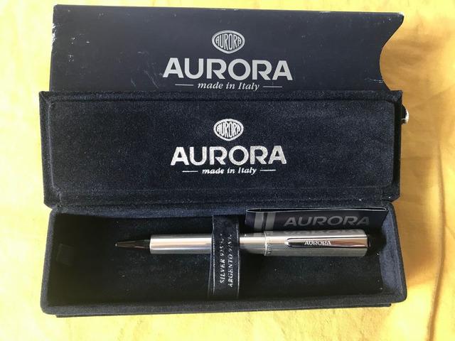 Penna Aurora in Argento 925 a sfera vintage
