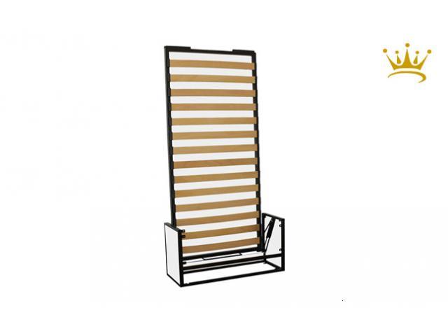 Letto studio singolo verticale a scomparsa ribaltabile a muro