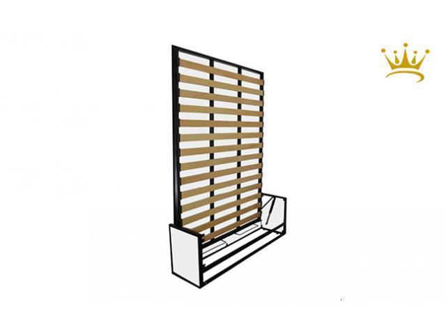 Letto studio doppio verticale a scomparsa ribaltabile a muro