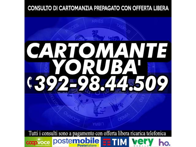 La Cartomanzia di YORUBA' è sempre con offerta libera prepagata
