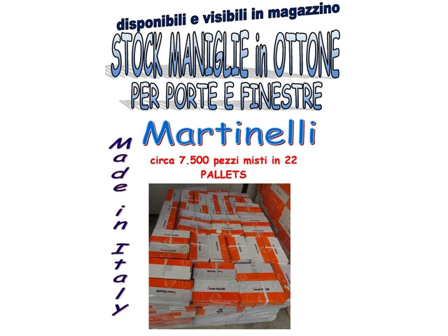 vendo stock maniglie in ottone Martinelli