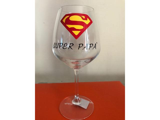 Bicchiere vino Super Papà
