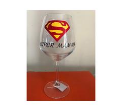 Bicchiere vino Super Mamma