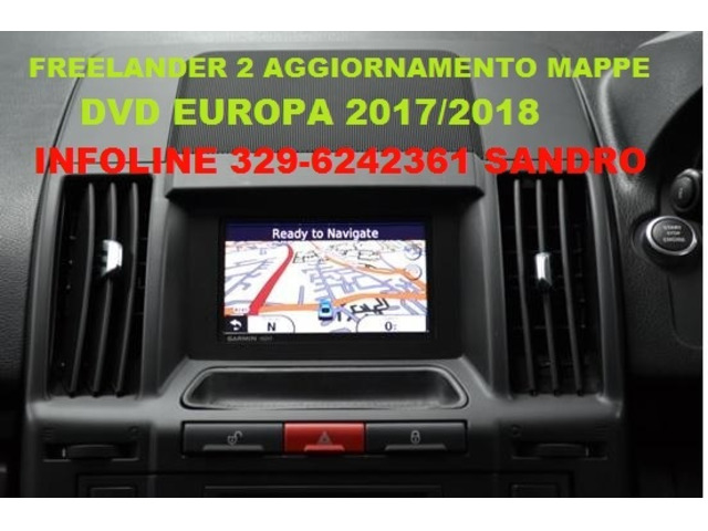 LAND ROVER FREELANDER 2 DVD AGGIORNAMENTO MAPPE EUROPA 2017/2018