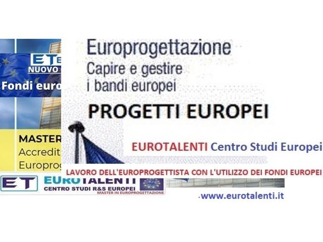 Istruzione - formazione - #MASTER #EUROPROGETTAZIONE  per lavorare  immediatamente coi fondi europei