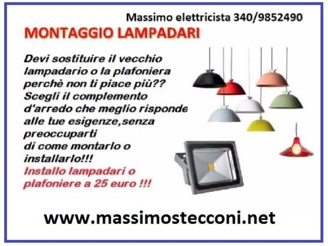 ELETTRICISTA MONTAGGIO LAMPADARI E PLAFONIERE