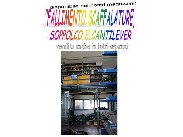 Vendita fallimentare di scaffalature, soppalco e cantilever