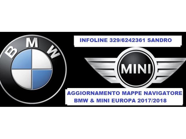 BMW MINI NUOVE MAPPE 2018 AGGIORNAMENTO NAVIGATORE PROFESSIONAL NBT MOVE