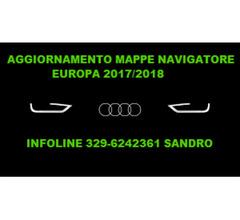 AUDI NUOVE MAPPE EUROPA 2018 AGGIORNAMENTO NAVIGATORE AUTO