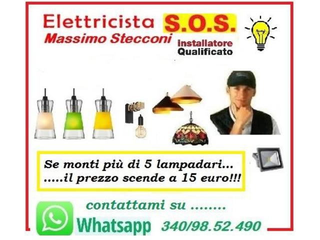 Servizi - Servizio montaggio lampadari con 19 euro