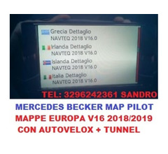 MERCEDES BECKER MAP PILOT AGGIORNAMENTO MAPPE NAVIGATORE V16 EUROPA 2018/2019 con velox