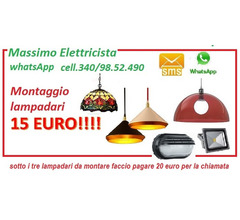LAMPADARI E APPLIQUE DA 15 EURO
