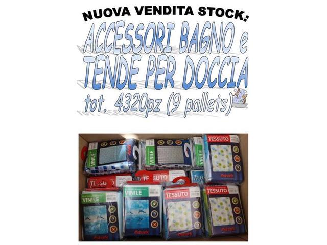 Stock accessori bagno e tende doccia 4320 pezzi