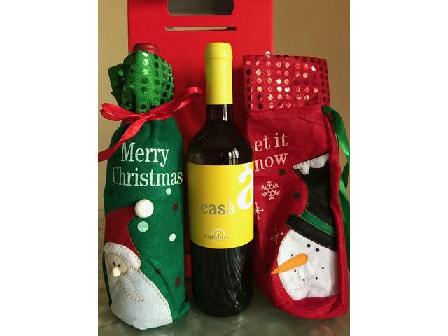 Vino in sacchetti di Natale