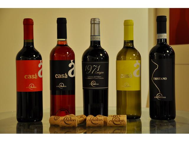 Confezione 6 Bottiglie di Vino Aglianico+Olio