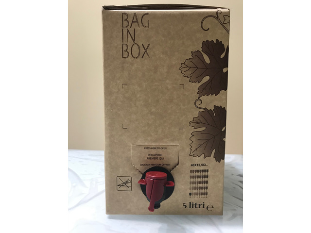 Vino Aglianico in Bag Box da 5Lt.