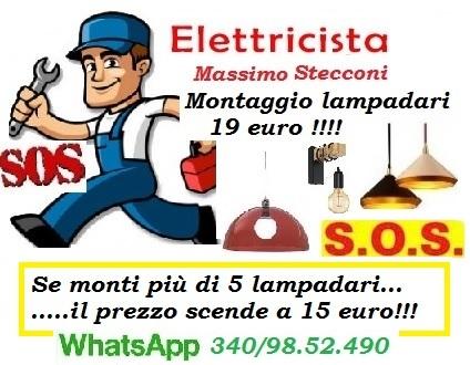 Riparazioni - S.O.S MONTAGGIO LAMPADARIO CON 19 EURO A ROMA