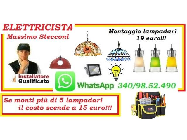 LAMPADARIO CON 19 EURO MONTAGGIO A ROMA E PROVINCIA