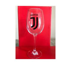 Bicchiere vino Juventus