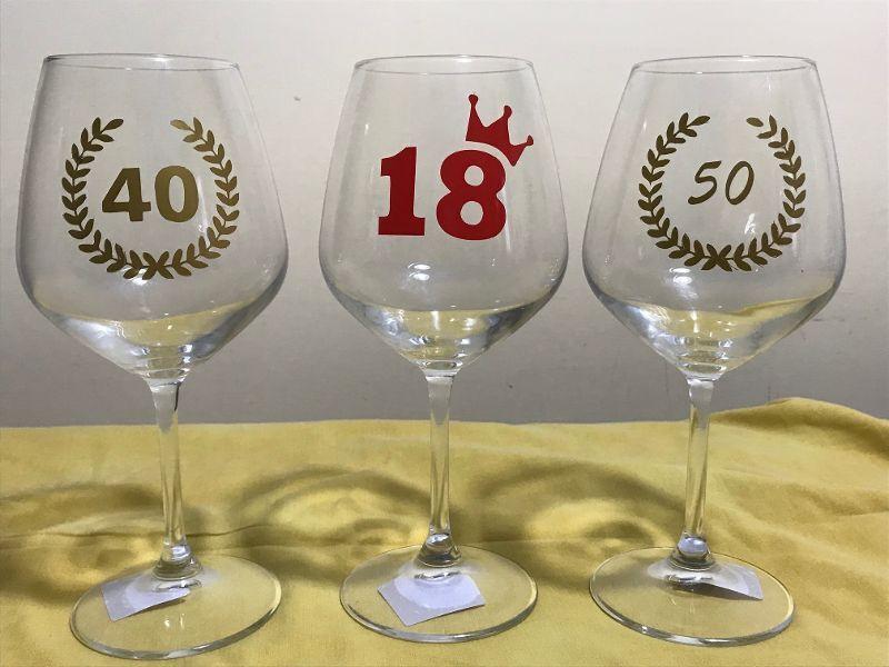 Altro - Bicchiere calice di buon compleanno