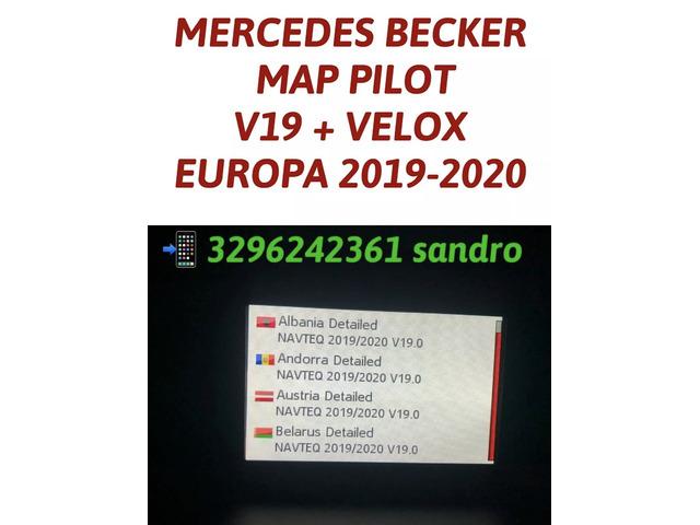 MERCEDES BECKER MAP PILOT CON AUTOVELOX AGGIORNAMENTO MAPPE NAVIGATORE