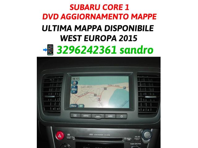 SUBARU CORE 1 AGGIORNAMENTO MAPPE NAVIGATORE AUTO