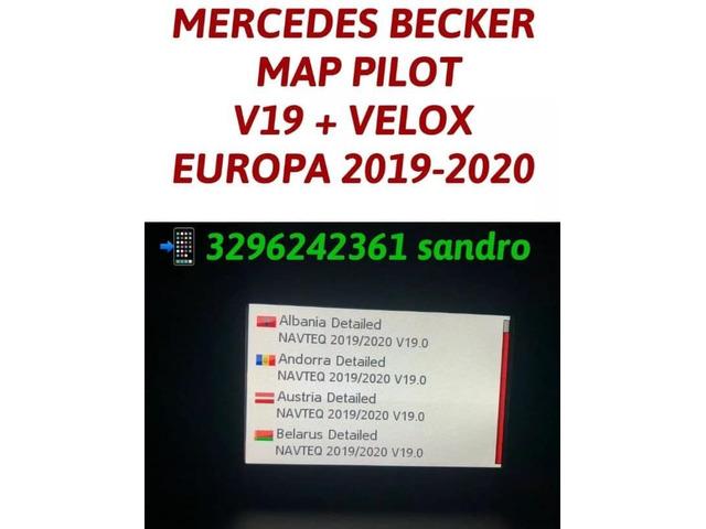 MERCEDES BECKER MAP PILOT AGGIORNAMENTO MAPPE NAVIGATORE CON AUTOVELOX