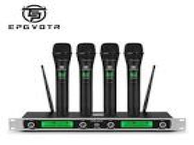 Beltel - ammoon sistema di microfono 4 canali uhf senza fili tipo economico