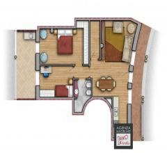 Stiava: appartamento piano terra con terrazza in contesto signorile
