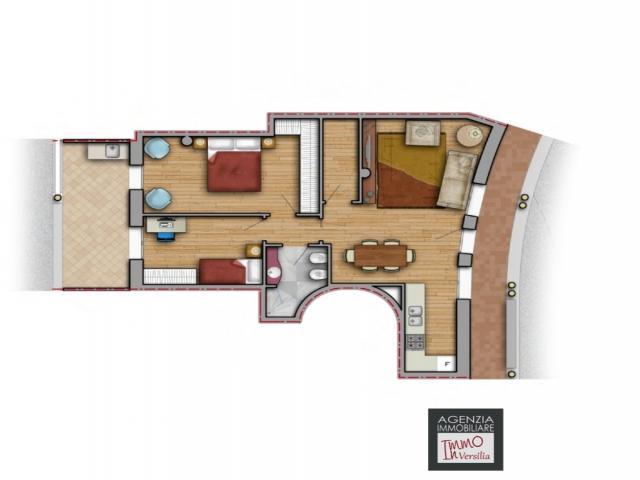 Case - Stiava: appartamento piano terra con terrazza in contesto signorile