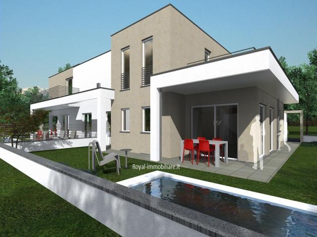 Case - Residenza ardesia, ville contemporanee in classe a4.