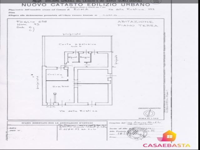 Case - Immobile residenziale abitazione di tipo popolare - via della rustica n. 193