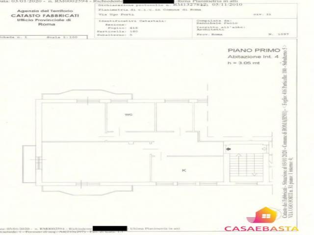 Case - Abitazione di tipo civile - via ugo forti n. 31 - 00163