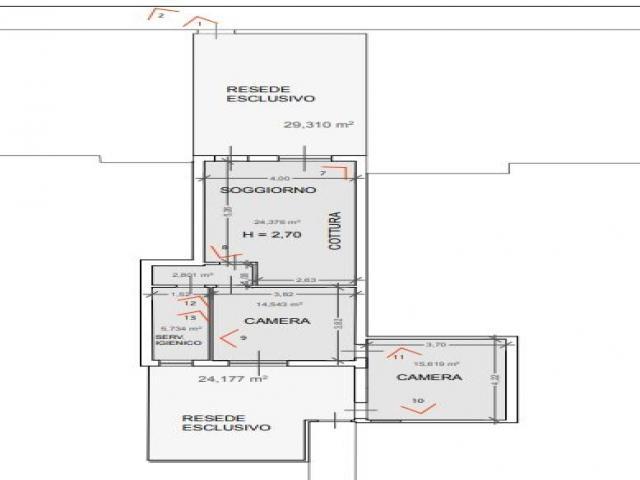 Case - Appartamento - frazione san pierino - via meucci 26