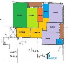 Cesare battisti: ampio appartamento con garage
