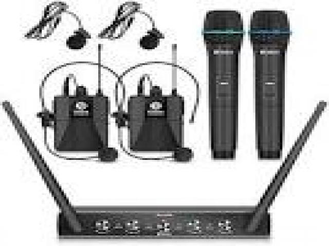 Telefonia - accessori - Beltel - ammoon sistema di microfono 4 canali uhf senza fili ultimo sottocosto