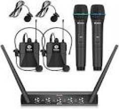 Beltel - ammoon sistema di microfono 4 canali uhf senza fili ultimo sottocosto