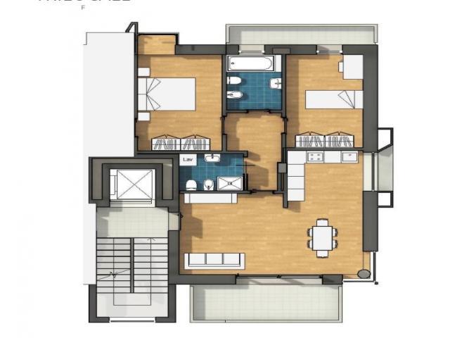 Case - Trilocale con terrazzo vivibile